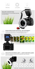 For Sony A6400 A6000 Macro Led Ring Flash Light LCD Display A6500 Mirrorless Cam