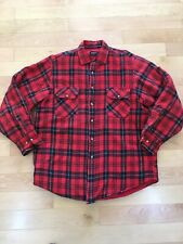 Hunters Lane Plaid Quilted Lined Insulated Flannel Work Shirt - Men's Large