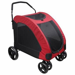 Pet Stroller for Dogs & Cats. Large 50Kg Loading Capacity Pet Travel Trolley