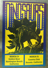 DINOSAURS #6 concert poster by Kelley 1983
