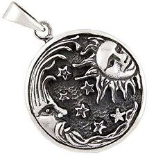 Plata Esterlina (925) colgante de sol y la luna (8 gramos)!!!!!! nuevo!!!!!!