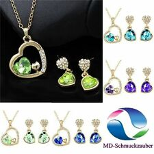 Modeschmuck-Halsketten & -Anhänger aus Kristall mit Herz-Schliffform für Damen