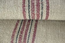 Antique Vintage STAIR / TABLE RUNNER HEMP  rug fabric  per/ 1 YD carpet heavy ~~