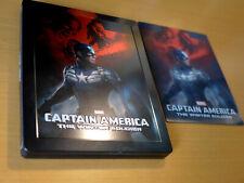 MARVEL Captain America Winter Soldier 3D Zavvi Lenticular Steelbook [3D Blu-ray]