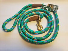 Braided Snap Leash/Lead by Mendota 6' Long Kelly Green