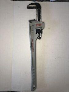 "Milwaukee Tools 48-22-7224 24"" Aluminum Pipe Wrench."