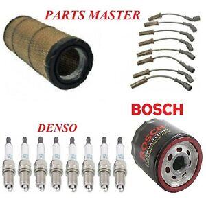 Tune Up Kit Filters Wire Spark Plugs Fit GMC SAVANA 2500 V8; 4.8L;6.0L 2009-2014