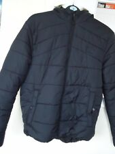 Core by Jack Jones padded coat with fur hood size M