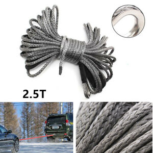 50ft×6mm Nylon Synthetic Winch Line Cable Rope Functional Fit For Car ATV UTV