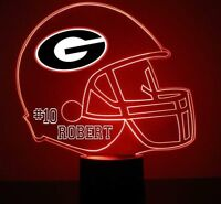 Georgia Bulldogs College Football Personalized FREE - LED Night Light Lamp