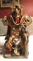 "Kirkland's Potter's Garden Hand Painted Ceramic 12"" Christmas Nativity Light"