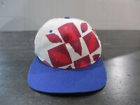 VINTAGE Atlanta Olympics Hat Cap White Blue Snap Game Summer Games Mens 90s