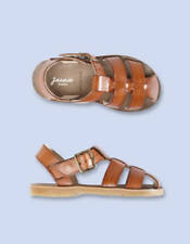 JACADI Nu Pieds Boys Leather Sandals Shoes Size 32  205mm Children