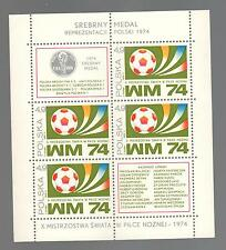 POLAND 1974 - Souvenir Sheet - World Cup Soccer, Munich 1974 - Poland's Silver
