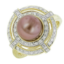 Freshwater Cocktail Yellow Gold 14k Fine Pearl Rings