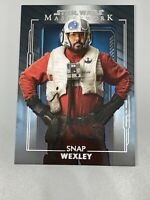 Snap Wexley 2020 Topps Star Wars Masterworks Blue Parallel #44