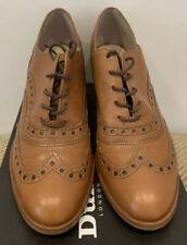 Dune Ladies Tan Heeled Brogue Shoes Size 41/UK 8