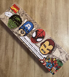 Marvel Cookie Cutters WILLIAMS SONOMA Hulk, Spiderman, Capt America, Iron man