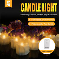 12PCS Flameless LED Candle Battery Operated Tea Light Flickering Wedding Easter