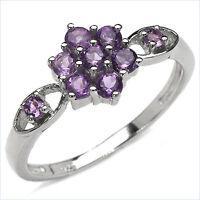 Damen Ring Indira, 925er Silber, 0,59 Kt. Amethyst, Gr. 55