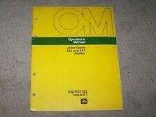 John Deere Used 483 & 484 Stalker Operators Manual A8