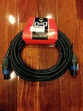Hosa Speaker Cable 12AWG 2 Conductor 20' Foot SKT-220 Speakon to Neutrik NL4FX