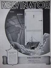 PUBLICITÉ DE PRESSE 1935 KELVINATOR AVEC L'AMIRAL BYRD AU PÔLE SUD -ADVERTISING