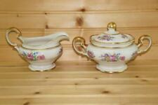 Castleton China CASTLETON ROSE Creamer & Sugar Bowl Set | USA | Discontinued VTG