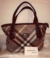 【RARE】BURBERRY Blue Label Large Tote Bag in Beige Brown Multi Colour Check