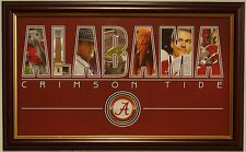 ALABAMA football framed nameplate print Bear Bryant Nick Saban Big AL