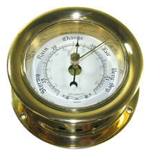 "Victory RM618R 3"" Polished Cast Brass Ship's Barometer Plain Bezel 135-933"