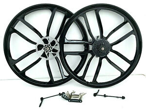 26 inch Magnesium Alloy mountain bike wheels 8 speed cassette tyres available