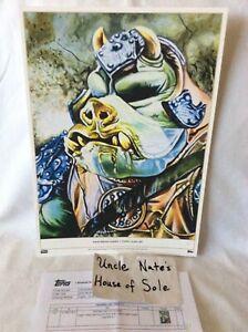 *RARE*#1/1 Topps Star Wars Living Set LE GOLD Penix Art Print, Gammorean Guard
