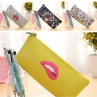 PU Pencil Case Bag Stationery Office & School Supplies Makeup Bags Gift