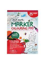 Mont Marte Marker Colouring Pad A4 Creative Kids Fun