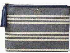Kate Spade GIA Larchmont Avenue Fabric Stripe WLRU5237 Navy RTL