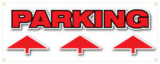 Parking Up Banner Free Parking Cars Trucks Suv Retail Store Sign 24x72