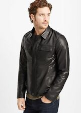 Vince Men's Raw Edge Leather Jacket - $995 MSRP - Size MEDIUM - HOT!!!
