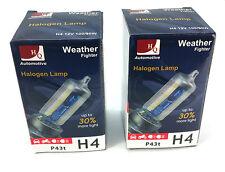 2x Halogen Fog Bulbs HQ Automotive H4 P43t 12V 100/90W Weather Fighter Rainbow B