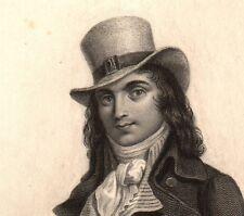 Portrait XIXe Charles Jean Marie Barbaroux Marseille Révolution Française
