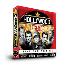 HOLLYWOOD LEGENDS - 5 DVD GIFT TIN STEVE McQUEEN MARLON BRANDO CARY GRANT FILMS