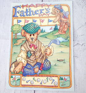 Father's Day Greeting Card GOLF BOYDS Bears