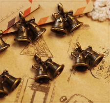 12x Metall Anhänger Charm Schmuck DIY Weihnachten Glocke bronze 13x14mm mb1380