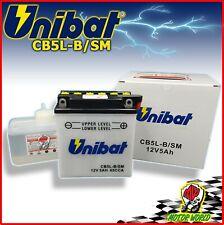 BATTERIA UNIBAT CB5L-B CON ACIDO INCLUSO per MAICO CUP 250