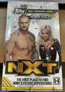 2021 TOPPS WWE NXT FACTORY SEALED HOBBY BOX **2 AUTOS PER BOX** NEW