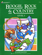 "BASTIEN ""BOOGIE, ROCK & COUNTRY"" LEVEL 3 PIANO MUSIC BOOK BRAND NEW ON SALE!!"