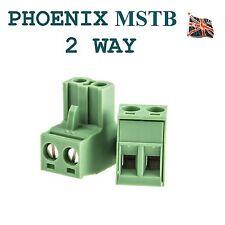 Phoenix 2 Vie Connettore 2 PIN MSTB Professional ingresso audio UK STOCK