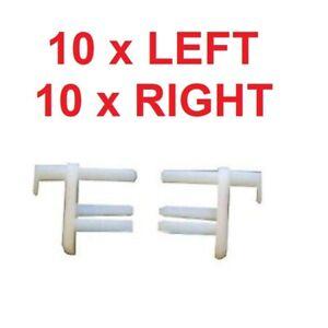 10 x Pair Seitz Dometic Flyscreen / Caravan Window Blind End Clips 10 L/H 10 R/H