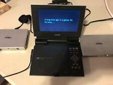 "Toshiba SD-P1400 Portable DVD Player 7"" W 2 DX-NI101 Dynex Batteries Excellent"