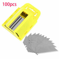 Ridgeyard 100Pcs Utility Blades Box Cutter Replacement Knife  Exact Dispenser
